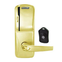 CO220-MS-75-MS-ATH-RD-605 Schlage Standalone Classroom Lockdown Solution Mortise Swipe locks in Bright Brass