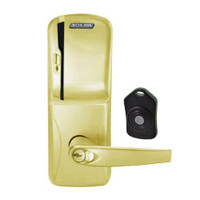 CO220-MS-75-MS-ATH-RD-606 Schlage Standalone Classroom Lockdown Solution Mortise Swipe locks in Satin Brass