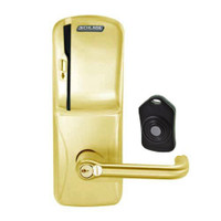 CO220-MS-75-MS-TLR-RD-605 Schlage Standalone Classroom Lockdown Solution Mortise Swipe locks in Bright Brass