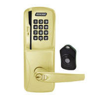 CO220-MS-75-MSK-ATH-RD-605 Schlage Standalone Classroom Lockdown Solution Mortise Swipe Keypad Lock with in Bright Brass
