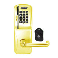 CO220-MS-75-MSK-TLR-RD-605 Schlage Standalone Classroom Lockdown Solution Mortise Swipe Keypad Lock with in Bright Brass