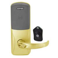 CO220-MS-75-PR-SPA-RD-605 Schlage Standalone Classroom Lockdown Solution Mortise Proximity Locks in Bright Brass