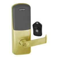 CO220-MS-75-PR-RHO-RD-606 Schlage Standalone Classroom Lockdown Solution Mortise Proximity Locks in Satin Brass
