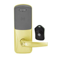 CO220-MS-75-PR-ATH-RD-605 Schlage Standalone Classroom Lockdown Solution Mortise Proximity Locks in Bright Brass
