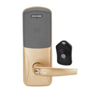 CO220-MS-75-PR-ATH-RD-612 Schlage Standalone Classroom Lockdown Solution Mortise Proximity Locks in Satin Bronze