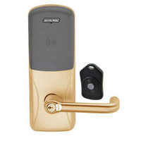 CO220-MS-75-PR-TLR-RD-612 Schlage Standalone Classroom Lockdown Solution Mortise Proximity Locks in Satin Bronze
