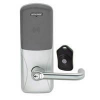 CO220-MS-75-PR-TLR-RD-619 Schlage Standalone Classroom Lockdown Solution Mortise Proximity Locks in Satin Nickel