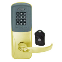 CO220-MS-75-PRK-SPA-RD-605 Schlage Standalone Classroom Lockdown Solution Mortise Proximity Keypad with in Bright Brass