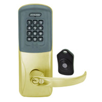 CO220-MS-75-PRK-SPA-RD-606 Schlage Standalone Classroom Lockdown Solution Mortise Proximity Keypad with in Satin Brass