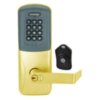 CO220-MS-75-PRK-RHO-RD-605 Schlage Standalone Classroom Lockdown Solution Mortise Proximity Keypad with in Bright Brass