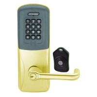 CO220-MS-75-PRK-TLR-RD-605 Schlage Standalone Classroom Lockdown Solution Mortise Proximity Keypad with in Bright Brass
