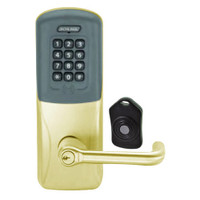 CO220-MS-75-PRK-TLR-RD-606 Schlage Standalone Classroom Lockdown Solution Mortise Proximity Keypad with in Satin Brass