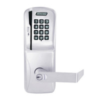 CO250-CY-40-MSK-RHO-RD-626 Schlage Privacy Rights on Magnetic Stripe with Keypad Cylindrical Locks in Satin Chrome
