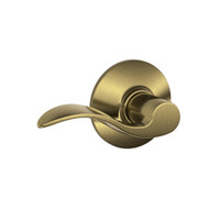 F10-ACC-609 Schlage F Series - Accent Lever style with Passage Lock Function in Antique Brass