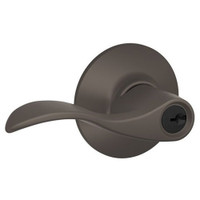 F80-ACC-LH-613 Schlage F Series - Accent Lever style with Storeroom Lock Function in Oil-Rubbed Bronze