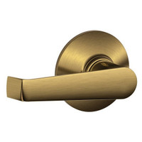 F10-ELA-609 Schlage F Series - Elan Lever style with Passage Lock Function in Antique Brass