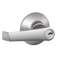 F51A-ELA-626 Schlage F Series - Elan Lever style with Keyed Entrance Lock Function in Satin Chrome