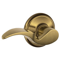 F170-AVA-LH-609 Schlage F Series - Avanti Lever style with Single Dummy Trim Function in Antique Brass