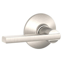 F10-LAT-618 Schlage F Series - Latitude Lever style with Passage Lock Function in Polished Nickel