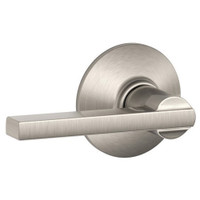 F10-LAT-619 Schlage F Series - Latitude Lever style with Passage Lock Function in Satin Nickel