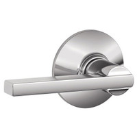 F10-LAT-625 Schlage F Series - Latitude Lever style with Passage Lock Function in Bright Chrome