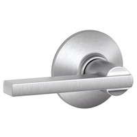 F10-LAT-626 Schlage F Series - Latitude Lever style with Passage Lock Function in Satin Chrome