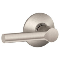 F10-BRW-619 Schlage F Series - Broadway Lever style with Passage Lock Function in Satin Nickel