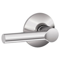 F10-BRW-625 Schlage F Series - Broadway Lever style with Passage Lock Function in Bright Chrome
