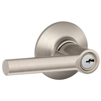 F51A-BRW-619 Schlage F Series - Broadway Lever style with Keyed Entrance Lock Function in Satin Nickel