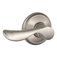 F170-CHP-LH-619 Schlage F Series - Champagne Lever style with Single Dummy Trim Function in Satin Nickel