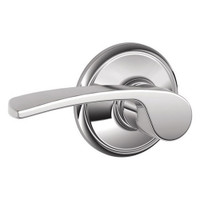 F10-MER-625 Schlage F Series - Merano Lever style with Passage Lock Function in Bright Chrome