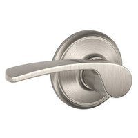 F40-MER-619 Schlage F Series - Merano Lever style with Privacy Lock Function in Satin Nickel