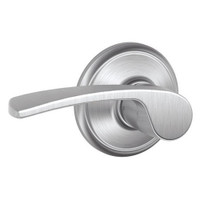 F40-MER-626 Schlage F Series - Merano Lever style with Privacy Lock Function in Satin Chrome