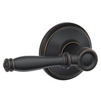 F10-BIR-716 Schlage F Series - Birmingham Lever style with Passage Lock Function in Aged Bronze