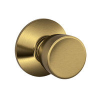 F10-BEL-609 Schlage F Series - Knob Bell Style with Passage Lock Function in Antique Brass