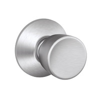 F10-BEL-626 Schlage F Series - Knob Bell Style with Passage Lock Function in Satin Chrome