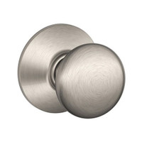 F40-PLY-619 Schlage F Series - Knob Plymouth Style with Privacy Lock Function in Satin Nickel