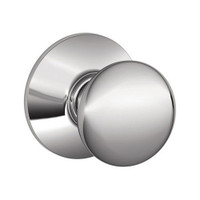 F40-PLY-625 Schlage F Series - Knob Plymouth Style with Privacy Lock Function in Bright Chrome