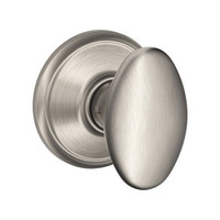 F10-SIE-619 Schlage F Series - Knob Siena Style with Passage Lock Function in Satin Nickel