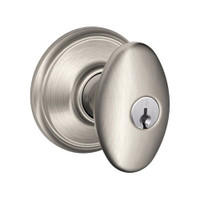 F51A-SIE-619 Schlage F Series - Knob Siena Style with Keyed Entrance Lock Function in Satin Nickel