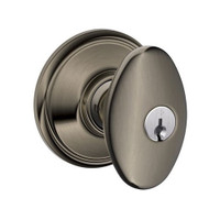 F51A-SIE-620 Schlage F Series - Knob Siena Style with Keyed Entrance Lock Function in Antique Pewter