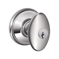F51A-SIE-625 Schlage F Series - Knob Siena Style with Keyed Entrance Lock Function in Bright Chrome