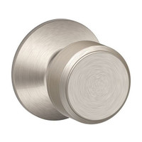 F170-BWE-619 Schlage F Series - Knob Bowery Style with Single Dummy Trim Function in Satin Nickel