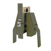 HL6-9485-613 Glynn Johnson HL6 Series Hotel Lock Thumbturn Function Push and Pull latch with Mortise Lock in Oil rubbed bronze Finish