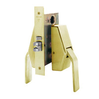 HL6-9486-606 Glynn Johnson HL6 Series Hotel Lock Thumbturn Function Push and Pull latch with Mortise Lock in Satin Brass Finish