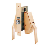 HL6-9486-612 Glynn Johnson HL6 Series Hotel Lock Thumbturn Function Push and Pull latch with Mortise Lock in Satin Bronze Finish