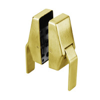 HL6-7-605-L Glynn Johnson HL6 Series Standard Function Push and Pull latch with Lead Lining in Bright Brass Finish