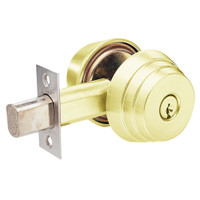 E62-03 Arrow Lock E Series Deadbolt in Bright Brass Finish