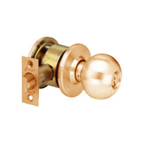MK18-TA-10 Arrow Lock MK Series Cylindrical Locksets Single Cylinder for Communicating Classroom with TA Knob in Satin Bronze Finish
