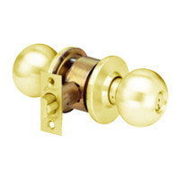 MK17-BD-03 Arrow Lock MK Series Cylindrical Locksets Single Cylinder for Classroom with BD Knob in Bright Brass Finish